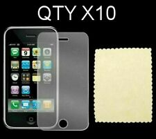 For Apple iPhone 3g 3gs Screen Protectors Plastic Covers Qty 10
