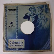 "12"" 78rpm paper gramophone record sleeve COLUMBIA INSPIRATION"