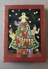 Home for the Holidays Moving Wooden Christmas Tree Music Box New In Box Musical