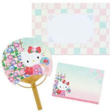 Sanrio Japan Hello Kitty Summer Fan Card Bamboo Fan