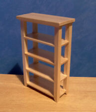 1/12, Miniature Dolls House furniture Pine Shop Shelves Bedroom storage BN LGW