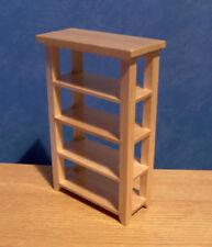 1/12, Miniature Dolls House furniture Pine Shop Shelves Bedroom storage BN LGW