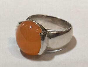 925 ECHT SILBER RHODINIERT *** Carneol großer massiver Ring Gr. 52