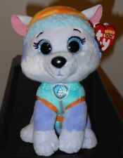 """Ty Beanie Boos - EVEREST the 6"""" Nickelodeon Paw Patrol Dog ~ NEW w/ Tags IN HAND"""