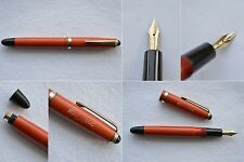 Montblanc Masterpiece #202 Coral Red & Gold Fountain Pen 14C #2 Flex Nib EF-BB