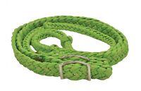 EquiSky Glitter Confetti Braided Nylon Cord Barrel Rein Easy Grip Knots 8' Long