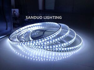 "SANDUO 15.5"" WHITE LED Strobe Wheel Rings Rim Lights Set with switch control"