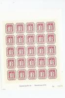 superbe bloc de 25 du hambourg du nr 20 impression gaufree  reimpression 1978