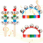 4+PCS+Hand+Bell+Rattle+Wooden+Hand+Jingle+Bells+Shaker+Rainbow+for+Baby+Toys