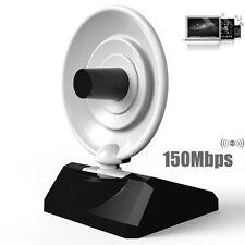 USB WiFi Wireless Adapter 150Mbps Radar High Gain w/Antenne Signal empfänger DE
