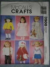 Brand New McCalls Doll Clothes Pattern