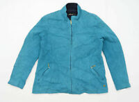 Dash Womens Size 14 Cotton Blend Teal Lightweight Jacket