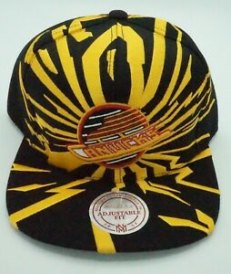NHL Vancouver Canucks Mitchell & Ness Adult Adjustable Earthquake Cap Hat M&N