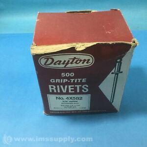 "Dayton 4X582 Box of 500 3/16"" Diameter Buttonhead Rivet FNOB"