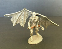"""Rawcliffe Ral Partha 1.75"""" Pewter Figurine Satan w/Cloven Hooves & Wings 1990"""