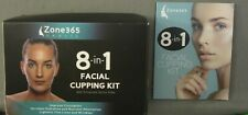 New - Zone 365 Beauty 8-In-1 Facial Cupping Kit With Enhanced Derma Roller
