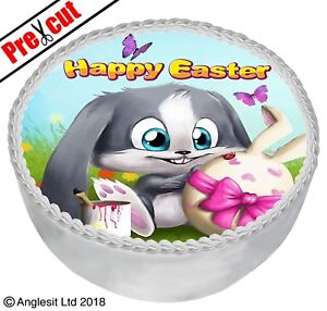 "PRE-CUT EASTER CAKE E IX. TOPPER 7"" / 18CM EDIBLE WAFER PAPER PARTY DECORATION"