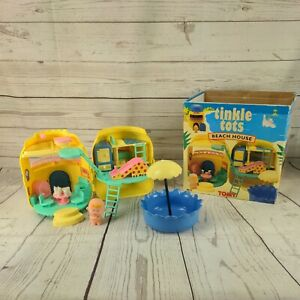 Tomy Tinkle Tots Beach House Playset vintage toy 6012 (1993) complete with box
