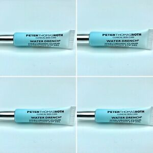 4 NEW PETER THOMAS ROTH Water Drench Hyaluronic Cloud Hydrating Eye Gel 0.1 oz