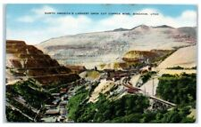 Mid-1900s Bingham, UT North America's Largest Open Cut Copper Mine Postcard