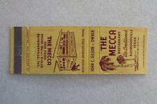 c130 Vintage Matchbook cover The Mecca Raymondville Texas TX Fine food