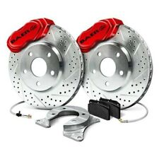 Brake Rotors FRONT ELINE DRILLED SLOTTED S-Chevrolet CAMARO 68-69 4 Wheel Rotor