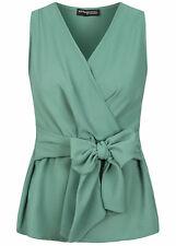 31% OFF B20086241 Damen Violet Top V-Neck Shirt Wickel Optik balsam grün