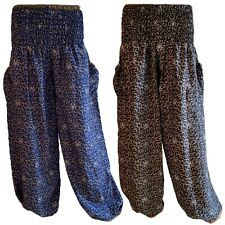 Harem Trousers Baggy Pants Aladdin Festival Yoga Loose Summer Trousers Vines