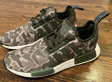 Adidas NMD_R1 Men's Shoes Sesame/Steel/Base Green D96617 *MENS SIZE 10