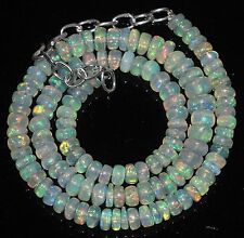 """80Ctw1Necklace 5.5to7.5mm16""""Beads Natural Genuine Ethiopian Welo Fire Opal RR401"""