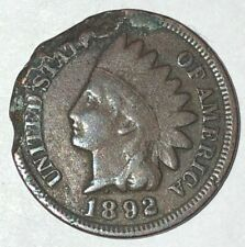 "1892 ~ UNITED STATES ~ ""INDIAN HEAD"" PENNY ~ 1 CENT ~ G4 Condition"