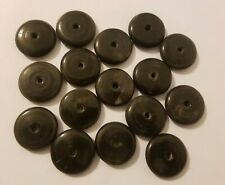 16 Genuine Natural Bone Horn Hand-Carved Wheel Donut Craft Jewelry Beads 30mm