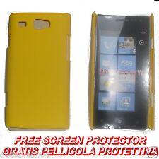 Pellicola + custodia BACK COVER GIALLA rigida per Samsung Omnia W I8350