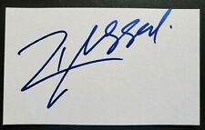 Russell Crowe Signed 3x5 Index Card Authentic Autograph *Gladiator*