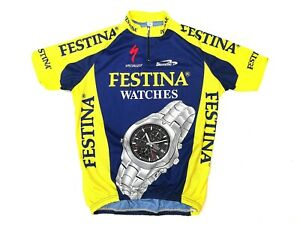 Vintage Biemme Festina Watches Specialized Cycling Jersey size Extra Large, VLD