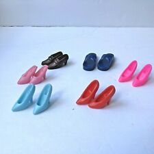 Barbie Doll 6 Pair Shoe Lot Pumps Ken Sandals Heeled Loafers