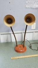 Vintage Mid Century Double Cone Gooseneck Table Desk Lamp