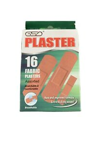 3 x boxes of 16 fabric sticky plasters bulk purchase, assorted sizes, 48 total