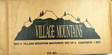Dept. 56 Mountain Backdrop Set of 2 Retired Great for Alpine Village 52574
