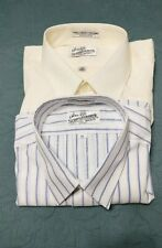 Lot of 2 Sears Roebuck &co. Size 17 Tailored Short Sleeve Buttonup Shirts