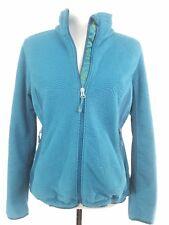 L.L. Bean Women's Fleece Jacket Zip Textured Stretch Teal Cinch Draw Cord Hem