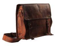 Leather Vintage Men S Messenger Shoulder Bag Laptop Satchel Genuine Briefcase