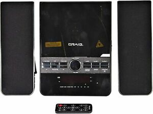 Craig CM427BT 3-Piece Vertical CD Stereo Shelf System w/ AM/FM Radio, Bluetooth
