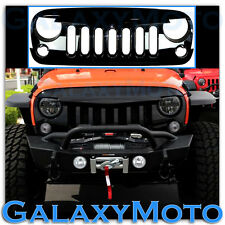 Gloss Black Jeep JK 07-16 Wrangler ABS Replacement Grille Shell Angry Bird Style