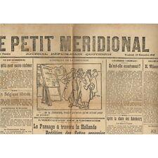 Le PETIT MÉRIDIONAL Lunel Cette et  Montpellier et  Chute des Habsbourg 22 Nov.