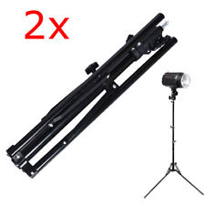 2X PORTABLE ADJUSTABLE ALUMINUM ALLOY LIGHT STAND 70IN/180CM PHOTOGRAPHY RELFECT