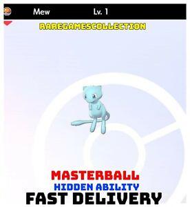 Pokemon Sword Shield ✨ SHINY ✨ 1 LEVEL MEW LEGENDARY 6IV FAST DELIVERY
