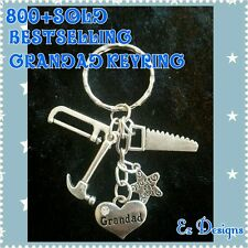 BESTSELLER GRANDAD KEYRING TOOLS  FATHERS DAY  GIFT FREEPOST&BAG