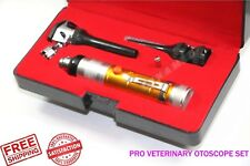 New Ent Animal Diagnostic Mini Otoscope Set Veterinary Medical Examination