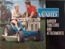 Montgomery Ward 12 15hp Lawn Garden Tractor & Implement Color Sale Brochure 1972